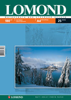 Бумага для фотопечати А4 Lomond 180Г.025л. матовая