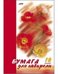 Бумага для акварели А4 10л. Цветы ( Хатбер )