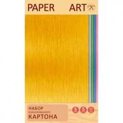 Картон цветной Блестящие цвета 5 л.5 цв. фольгинированный