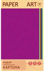 Картон цветной Гофрированный 5л.5 цв. Классика цвета
