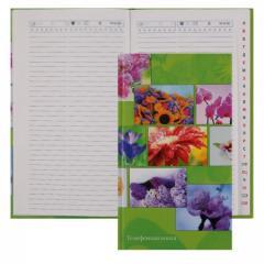 Книжка алфавитная А5 твердая обложка 80 л. лин. Цветы