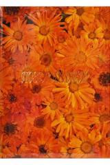 Папка адресная А4 Поздравляем Оранжевые Цветы глянцевая