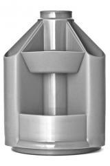 Подставка канцелярская Mini Desk Б/Н серый металлик
