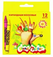 Мелки восковые Каляка-Маляка 12 цв.