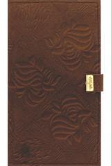 Книжка алфавитная Кожа 11, 5Х20, 5 96 лин. на кнопке