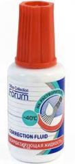 Корректирующая жидкость Forum с кисточкой на основе раств. 20мл.