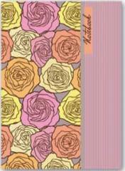 Книжка записная А6 120л. лин. Розы ( Феникс ) Магнит.Застежка