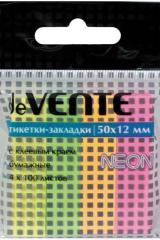 Закладки с липким краем Devente 12Х50 мм 4 цв. по 100л. цветные неон бумага