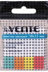 Закладки с липким краем Devente 12Х50 мм 4 цв. по 100л. Цвет.Край Бумага