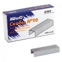 Скобы для степлера №10 Kw-Trio 1000 шт. (2-20 листов)