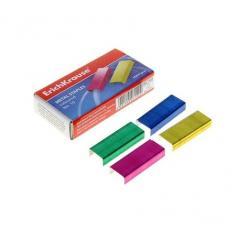 Скобы для степлера №10 Erich Krause цветные 1000 шт. (2-20 листов)