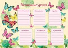 Расписание уроков А4 Бабочки ( Феникс )