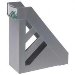Подставка для папок 10 см Стамм серый металлик