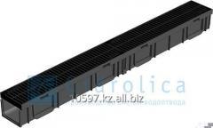 Канал с решеткой пластиковой, 1000*115*95 мм, Gidrolica Light
