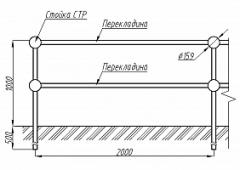 Пешеходное ограждение ОПО-Д/П2-1,0-2,0
