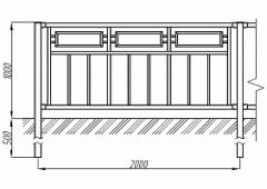 Пешеходное ограждение ОПО-Д/Т10-1,0-2,0