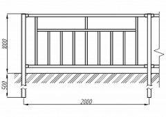 Пешеходное ограждение ОПО-Д/Т3-1,0-2,0