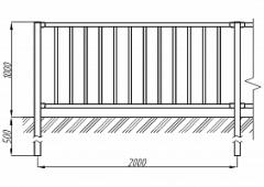 Пешеходное ограждение ОПО-Д/Т7-1,0-2,0