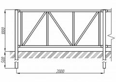 Пешеходное ограждение ОПО-Д/Т8-1,0-2,0
