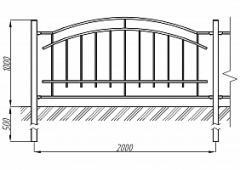 Пешеходное ограждение ОПО-Д/Т9-1,0-2,0