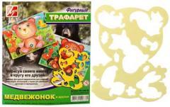 Трафарет пластиковый Медвежонок и Друзья ( Луч )