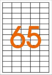 Этикетки самоклеящиеся 38Х21,2мм 65 шт. на листе