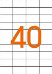 Этикетки самоклеящиеся 52,5Х29,7мм 40 шт. на листе