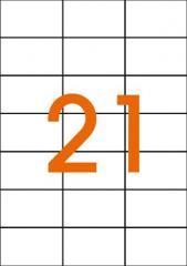 Этикетки самоклеящиеся 70Х42,4мм 21 шт. на листе