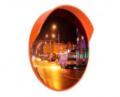 Зеркало уличное с козырьком 600мм с кронштейном