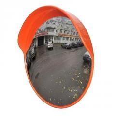 Зеркало уличное с козырьком 600мм с устройством