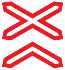 Знак дорожный 2 т/р Многопутная ж/д 1.3.2