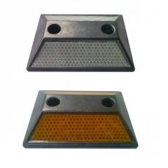 Светоотражатель дорожный КД-3 алюминиевый анкерный ГОСТ 50971-2011  Крепление в комплекте (анкер-шпильки и заглушки)
