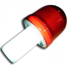 Фонарь сигнальный LED Мини ФС-30 с батарейками для конуса, вехи, столбика гибкого