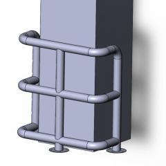 Колесоотбойник металлический КМ-950/76х3 угловой