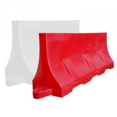 Разделительный дорожный блок водоналивной красный,