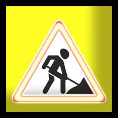 Знак дорожный сведодиодный 900х900 4.2.1, 4.2.2.