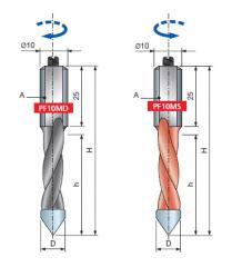 Инструмент для CNC центров PF10MD, PF10MS