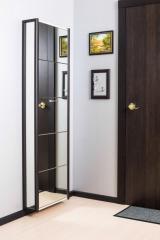 Обувной шкаф Айрон Комфорт, фасад и боковины Зеркало, окантовка Венге, 5 секций