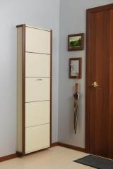 Обувной шкаф Айрон Лайт, окантовка Вишня, 5 секций