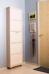 Обувной шкаф Айрон Люкс- боковины и фасад цвета Дуб молочный, 5 секций