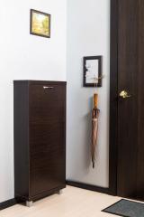 Обувной шкаф Айрон Люкс, боковины, окантовка и фасад цвета Венге , 3 секции