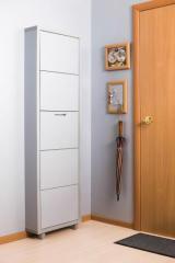 Обувной шкаф Айрон Люкс, боковины и фасад цвета Серебро, 5 секций