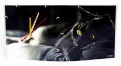 Часы настенные Кот объёмные
