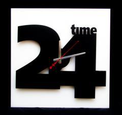 Часы настенные 24 часа - 2
