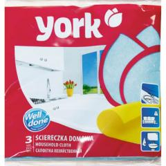 Салфетки для домашней уборки вискоза York 35Х35 (3шт.)