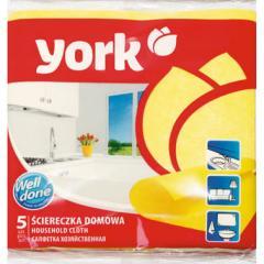 Салфетки для домашней уборки вискоза York 35Х35 (5шт.)
