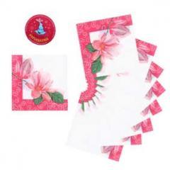 Салфетки бумажные 330Х330мм 20 шт. цветок в красной Раме