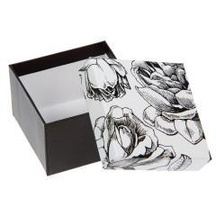 Коробка подарочная черные Розы 5*5см