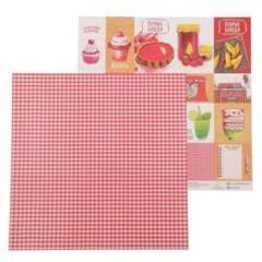 Бумага для скрапбукинга 30, 5*30, 5см 180Гр Карточки Кулинарная Книга