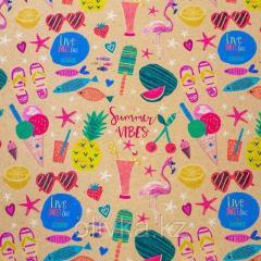 Бумага упаковочная Summer Vibes 50*70см
